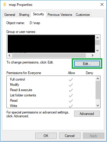 Windows: User permissions